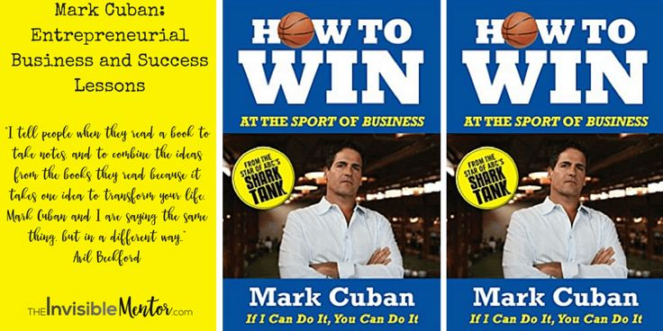 Billionaire Mark Cuban is the co-founder of Dallas-based firm broadcast.com and owner of the NBA's Dallas Mavericks. He teaches entrepreneur and business success lessons in his book, How to Win at the Sport of Business. If you are an entrepreneur or an aspiring one, you will want to read this book. Read my review in the article, Mark Cuban: Entrepreneurial Business and Success Lessons.
