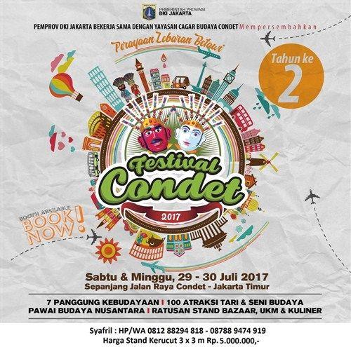 Festival Condet 2017 http://www.perutgendut.com/read/festival-condet-2017/6049?utm_content=buffer54270&utm_medium=social&utm_source=pinterest.com&utm_campaign=buffer #PerutGendut #Food #Kuliner #News #Indonesia #WisataKuliner