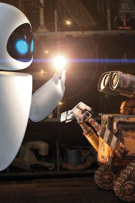 Wall-e!! light bulb piñata?