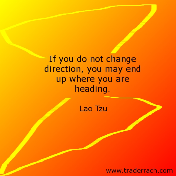 What's one thing you could change to improve the direction you're heading? - Comment below.  www.traderrach.com