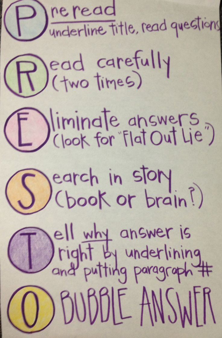 State testing - Reading Strategies Anchor Chart (photo only but I love the idea!)