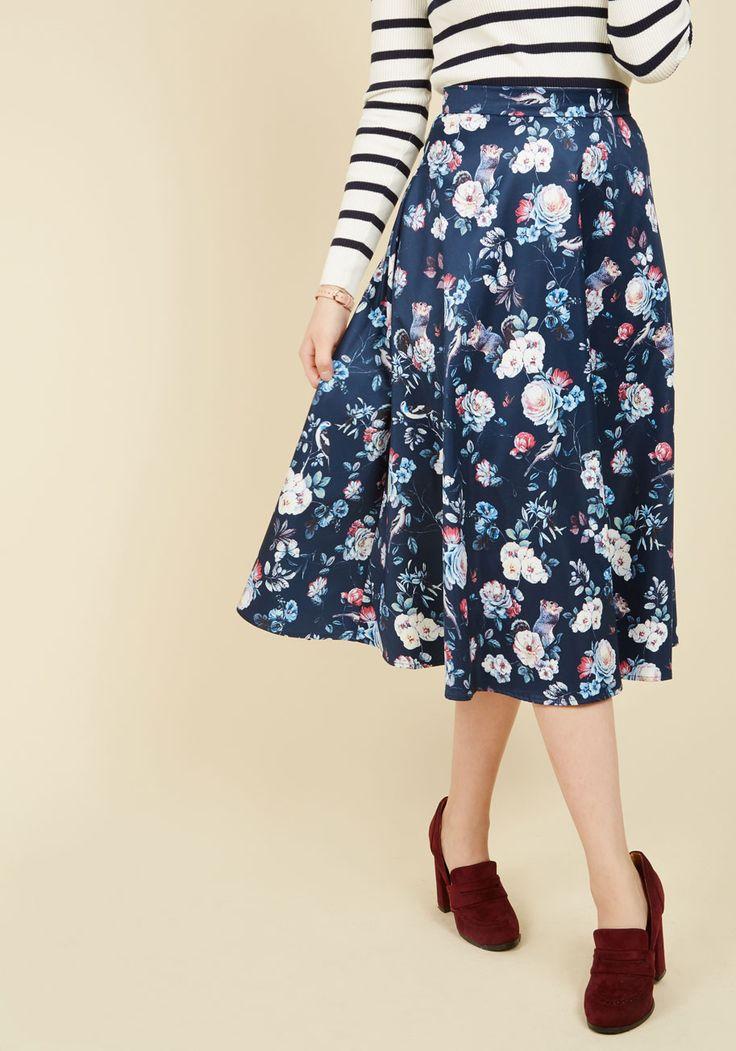 Foraging Fashionista Midi Skirt | Mod Retro Vintage Skirts | ModCloth.com
