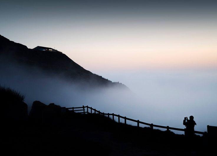 Perranporth sea mist. Perran Tremewan