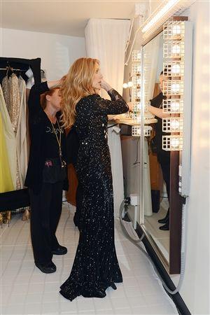 Céline Dion se prépare avant le spectacle à Las Vegas du 23 02 2016  Après le décès de son mari et pygmalion ... RENÉ ANGELIL ..