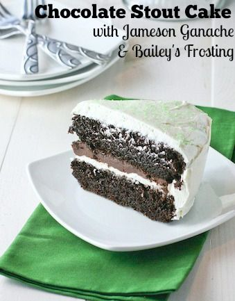 This deeply chocolate cake is a perfect way to celebrate St. Patrick's Day!