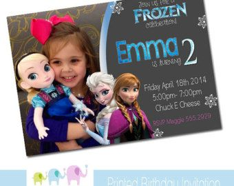 Free Disney Frozen Birthday Invitations ~ Best frozen images birthdays frozen party and