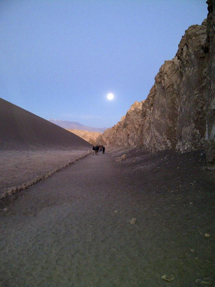 Valle de la Luna en San Pedro de Atacama. Foto de Sergio Marinao Antican.