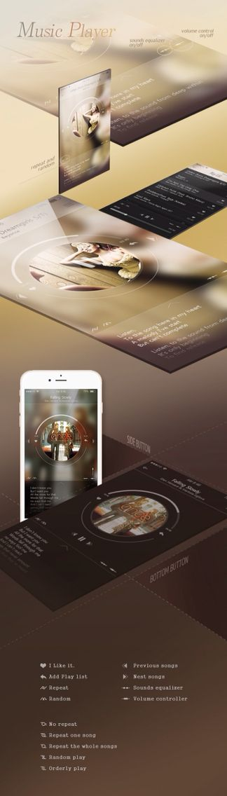 Music player UI/UX on Behance