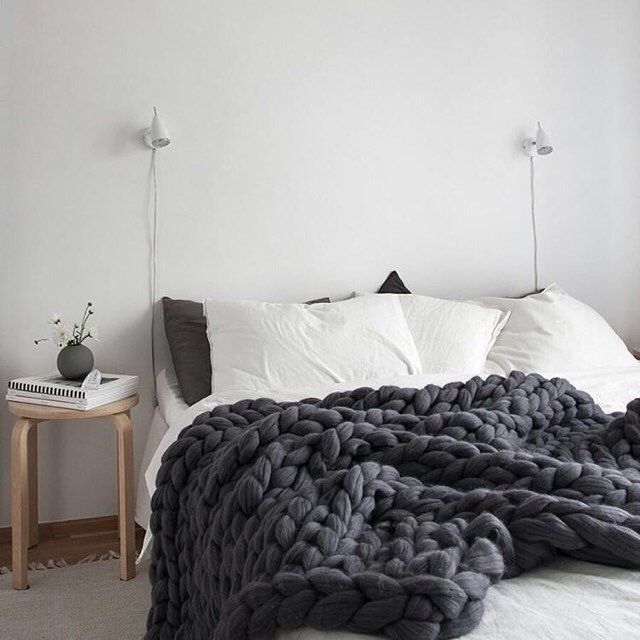 Wish we were still lounging around on Sunday morning instead of being up preparing for Monday morning. \\\ Photo by @decordotsblog #blanket by @anna.mo.ohhio by designmilkeveryday