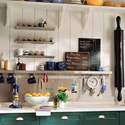 Awesome rail storage. 31 ideas for organizing your kitchen with rails!