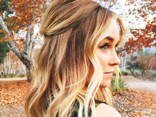 Lauren Conrad's stylist just posted a quick and easy tutorial for flat iron waves