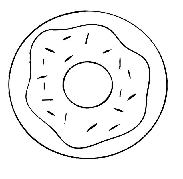 21 Inspired Photo Of Donut Coloring Page Donut Coloring Page