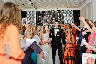 Sasha +Katya   Orange Chevron Wedding   #julyevent #flowerslovers