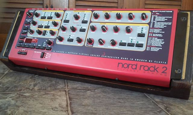 MATRIXSYNTH: Clavia Nord Rack 2 with Custom Wood Enclosure Stan...