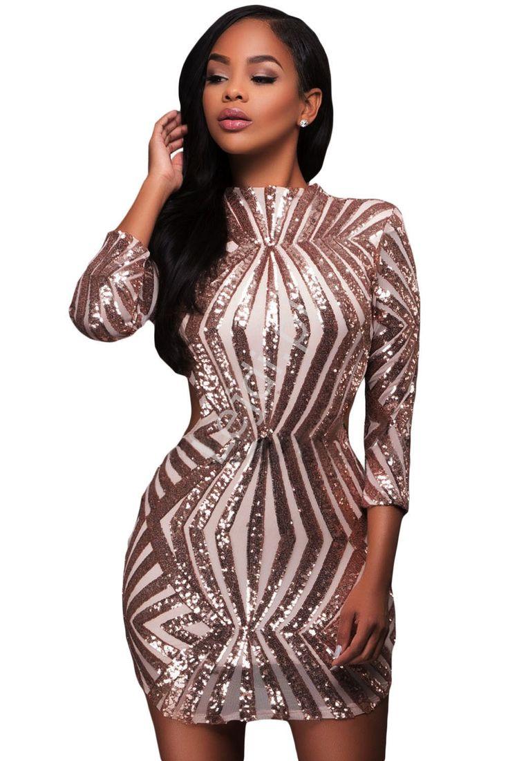 Śliczna sukienka wieczorowa z odkrytymi plecami ze złotymi cekinami.  Cekinowa sukienka, sukienka na sylwestra, sukienka na karnawał, sukienka na imprezę.  Beautiful evening dress with bare backs with gold sequins. Sequin dress, New Year's dress, carnival dress, party dress http://www.lejdi.pl/p9965,sliczna-sukienka-wieczorowa-z-odkrytymi-plecami-ze-zlotymi-cekinami-cekinowe-sukienki-891-1.html