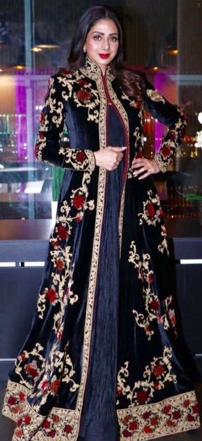 Actress Sridevi Kapoor in an outfit designed by Rohit Bal #sridevikapoor #rohitbal