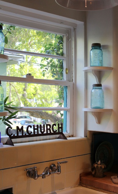 Oh, I Think I Might Put Up Some Little Half Circle Shelves Like This By My Kitchen  Window!
