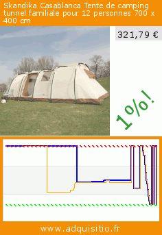 Skandika Casablanca Tente de camping tunnel familiale pour 12 personnes 700 x 400 cm (Sport). Réduction de 57%! Prix actuel 321,79 €, l'ancien prix était de 749,00 €. https://www.adquisitio.fr/autres/skandika-casablanca-1956