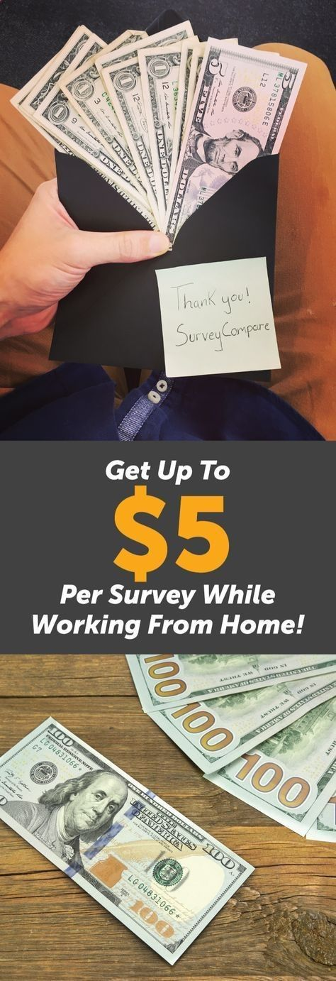 Get Paid From Home By Doing Online Surveys. The average survey pays $5; taking 5 surveys a day, 5 days a week gives $500/month Find out more by clicking on the image and enter your details on the website. By entering your email youll see the top Paid Survey Companies available to you.