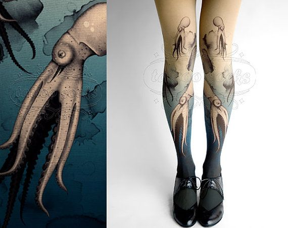 Closed Toe nude color one size Octopuses full by tattoosocks, $33.00
