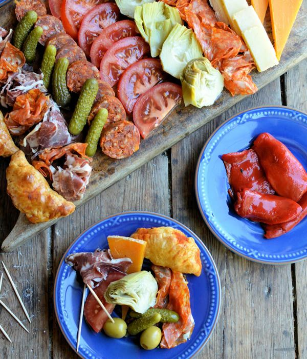 "Karen Burns-Booth presents ""Picada"" - Argentina's version of a Tapas style sharing platter. You can see from the photos it is the ideal plate of food to see you through the rest of the World Cup!"