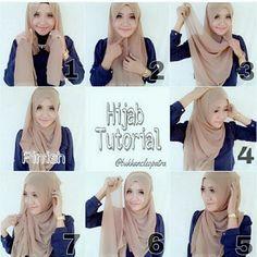 Casual Everyday Hijab Tutorial – 7 Steps