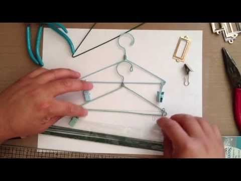Mini hangers - great for embellishing pages (depending on size) or hanging your projects from... Can customize to match projects too...