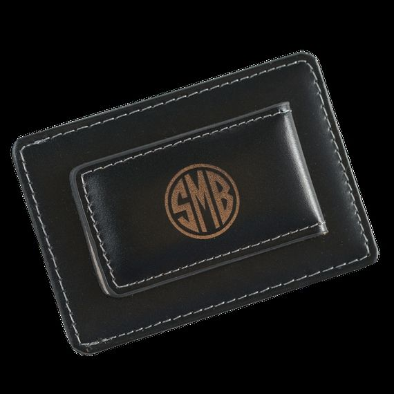 Personalized Leather Money Clip/Card Holder Groomsmen, Dads and Grads alike will all love this sleek, top of line leather money clip/card holder. The thin design makes it e... ➡️ http://jto.li/JJhtF