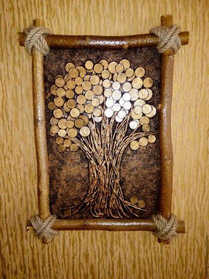 Фен-шуй ручной работы. Ярмарка Мастеров - ручная работа. Купить картина денежное дерево. Handmade. Золотой, денежный подарок