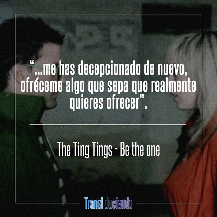 Canción traducida: #TheTingTings - #BeTheOne   #WeStartedNothing   Encuentra la letra completa en: http://transl-duciendo.blogspot.com.co/2016/05/the-ting-tings-be-one-ser-la-unica.html