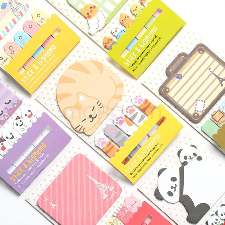 Animal Cat Panda Cute Kawaii Sticky Notes