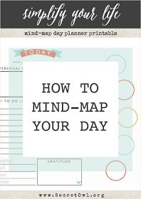 444 best mind mapping images on pinterest mind maps productivity secret owl society how to mind map your day fandeluxe Image collections