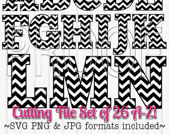 Chevron Numbers Cut File SetIncludes 0 through 9 by LillyAshley