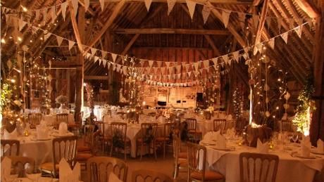 Coggeshall Essex, National Trust £4.5K including buffet or free range hog roast  Grange barn dressed for a wedding © Stuart Banks
