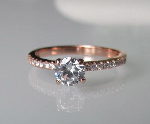 Hey, I found this really awesome Etsy listing at https://www.etsy.com/listing/253701483/rose-gold-engagement-ring-cubic-zirconia
