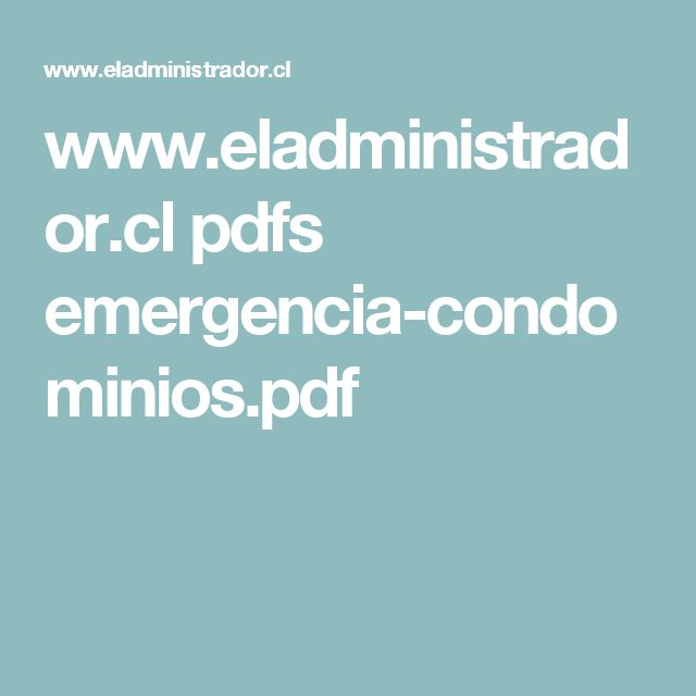 www.eladministrador.cl pdfs emergencia-condominios.pdf