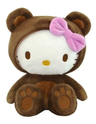 Hello Kitty Bear Plush Toy Brown