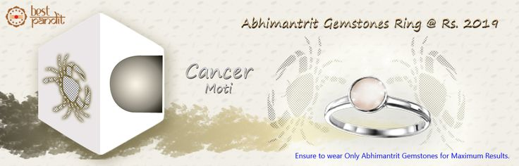 #AajmaKarDekho Abhimantrit Gemstones Ring Cancer ( Moti )....for more details visit http://www.buyrashiratan.com