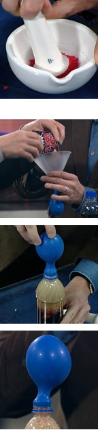 blow up a balloon with pop rocks and soda