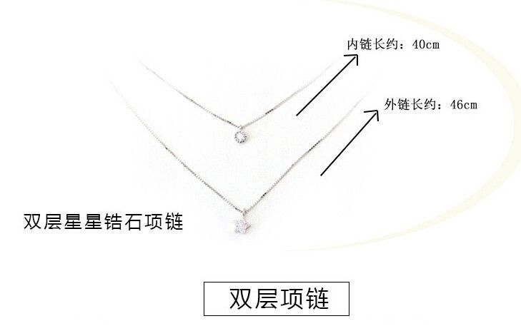 925 Sterling Silver Multilayer Colares & Pingentes Para Mulheres Cubic Zircon Diamante Colar de Estrela de Jóias Collier Kolye D79 em Pingente Colares de Jóias & Acessórios no AliExpress.com   Alibaba Group