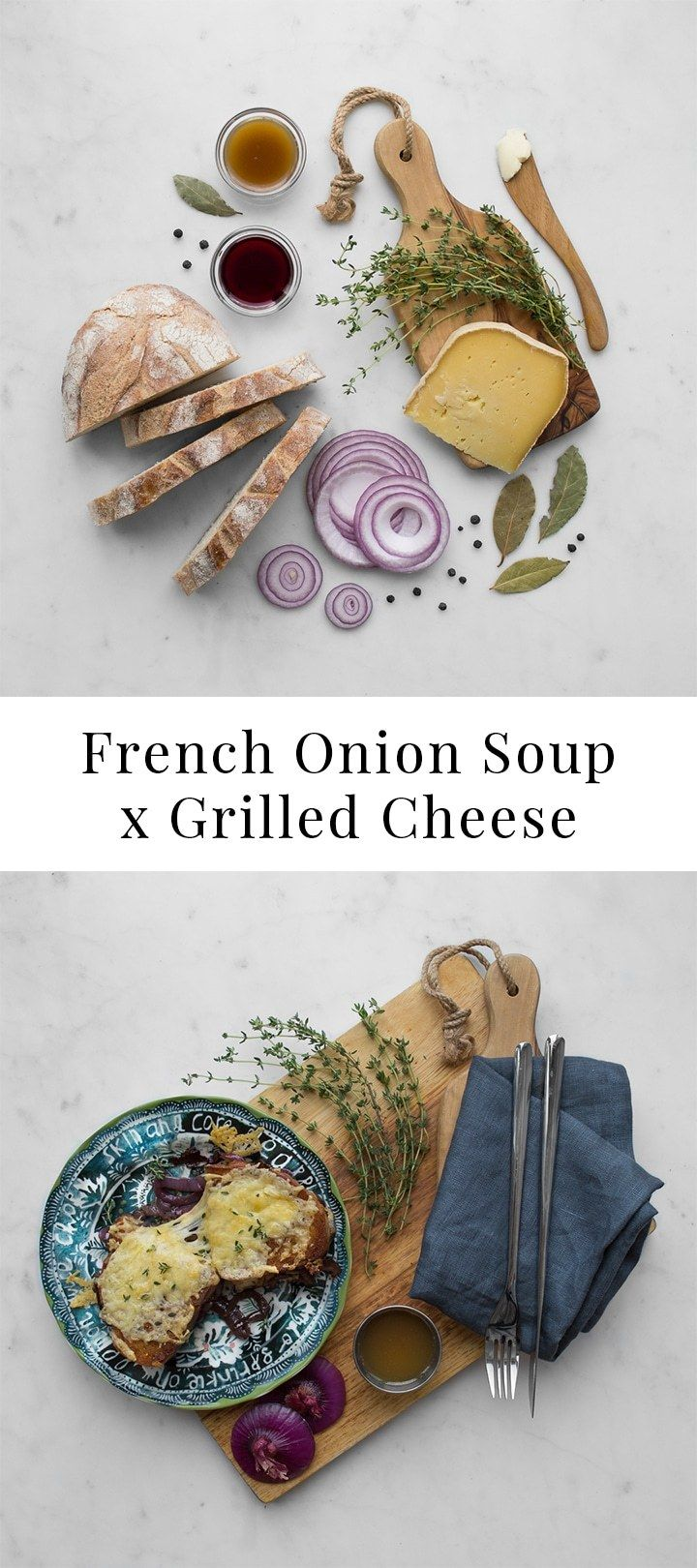 Double Decker French Onion Grilled Cheese | Chef Sous Chef