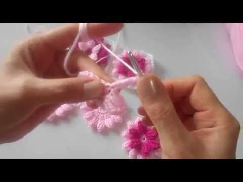 PAMUK ŞEKERİ: Çiçek Motifli Bebek Battaniyesi