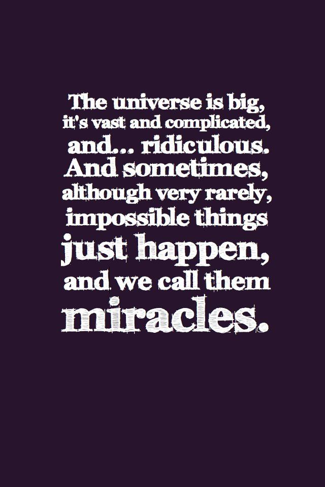 Miracle Quotes Enchanting 45 Best Quotes Miracles Images On Pinterest  Live Life Quote Life
