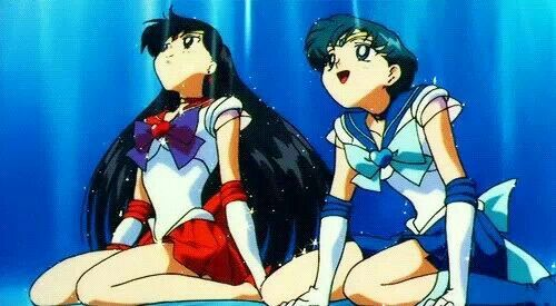 sailor mars and sailor mercury