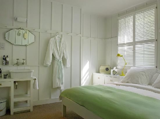 High Road House Hotel London, - want to put the shaker peg rail around our bedroom to hang pictures, bathrobes etc.