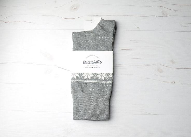 Groenlandia  #socks #calcetines #grey #winter