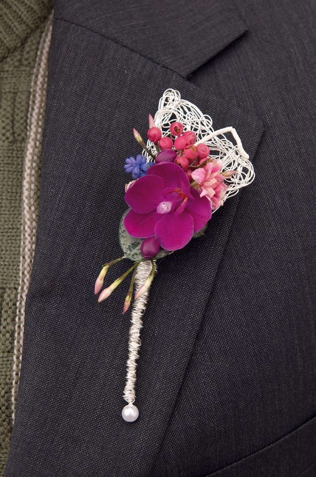 Lacy Purple and Different- Boutonniere #southerngroom