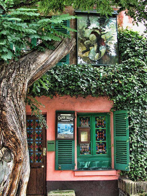 Lapin Agile is a famous Montmartre cabaret, at 22 Rue des Saules, Paris, France
