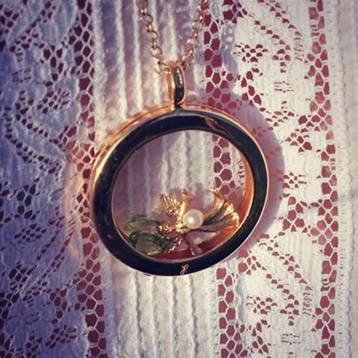 We love this locket you sent in, a #fairy godmother #peridot for #august and a #pearl for #june #whatdoyoutreasure