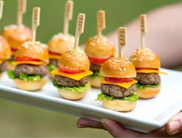 Mini Hamburger Kindergeburtstag Fingerfood